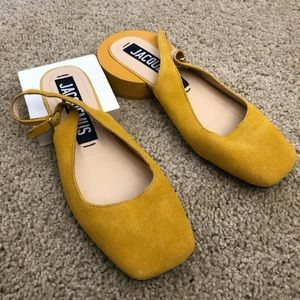 Rare! Jacquemus singleback suede leather shoes